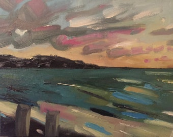 Abstract Seascape Oil Painting