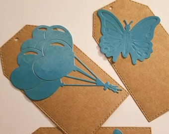 2 each of Balloon and butterfly Gift Tags (6 in each)