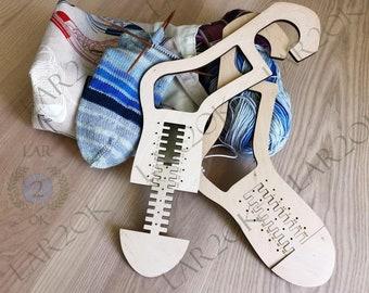 Pair (x2) Socks Blockers  Wooden Socks Blockers Knitting Gift Idea Handmade Knitting Tool Sock Dryer Knitted Socks Socks Forms
