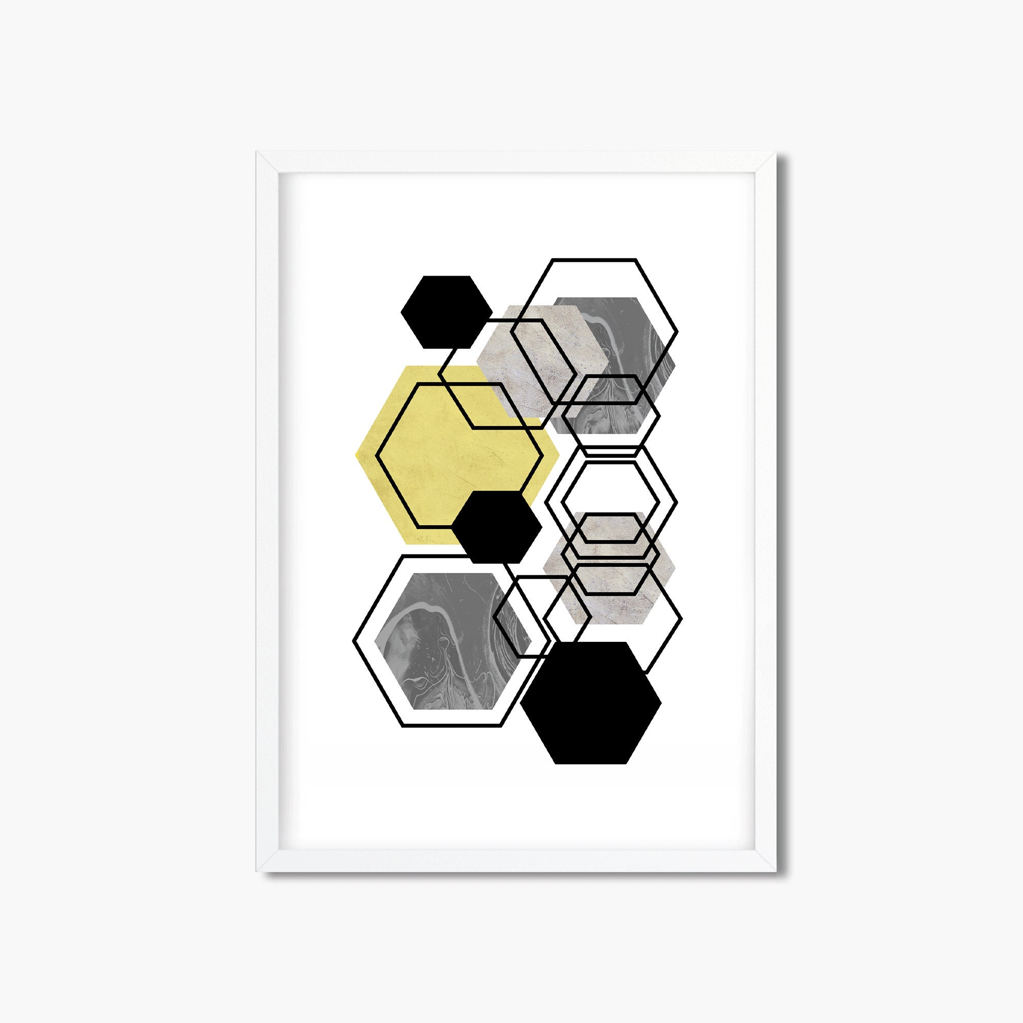 Modern Mid Century Framed Wester Typography Poster printable wall art Digital Download Wall Art frame wall art downloadable print