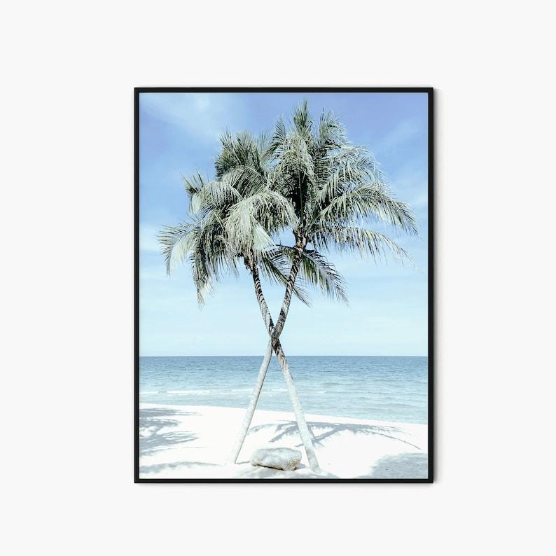 Poster Print, Digital Download Palm Tree Photo Palm Trees Printable Tropical Beach Print Downloadable Art Print Beach Ocean Wall Art