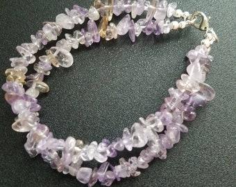 Light purple gemstone bracelet