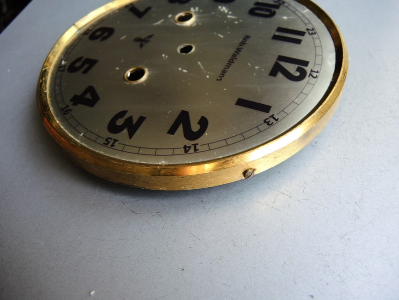 Antique 1930s Clock Brass Face / Clock Dial Face // German ...