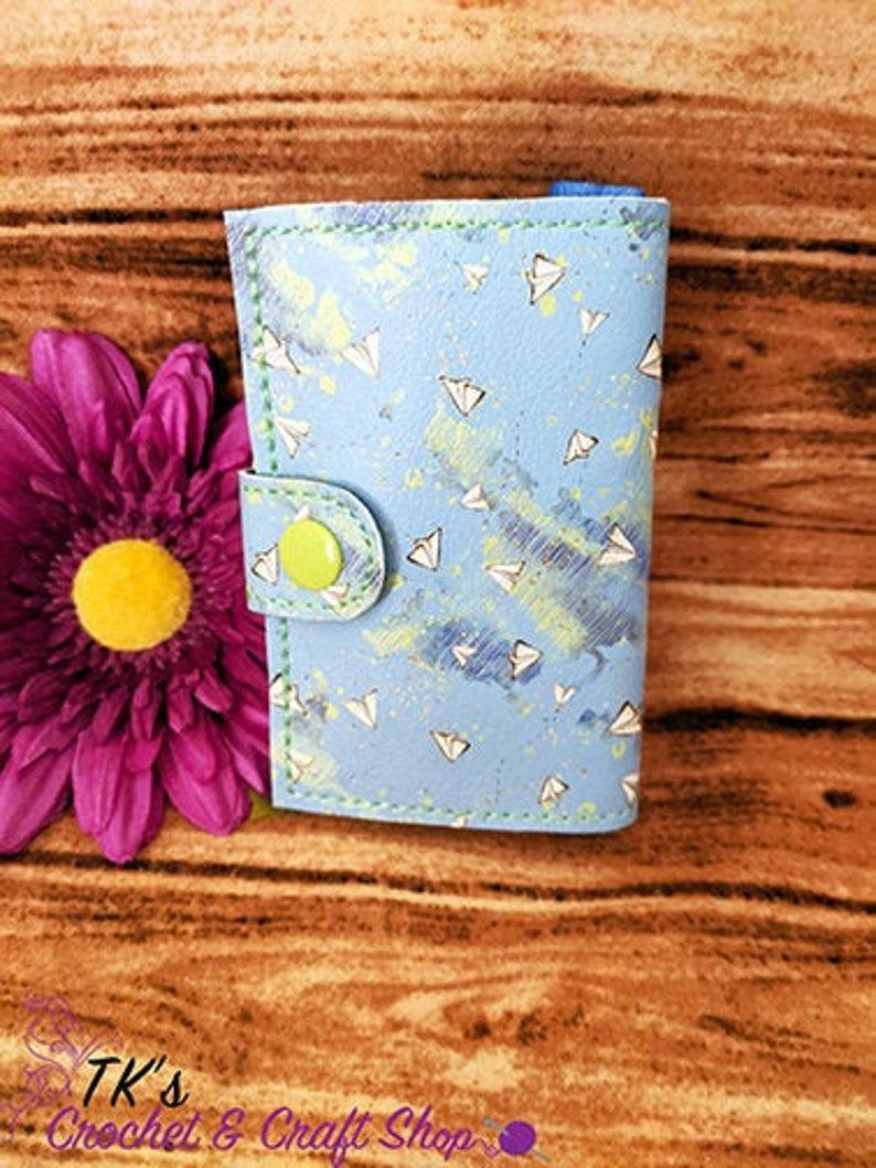 Cash and Cards on a Keychain Wanderlust Paper Airplanes Wallet