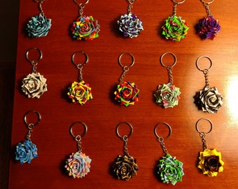 Duct Tape Flower Keychains