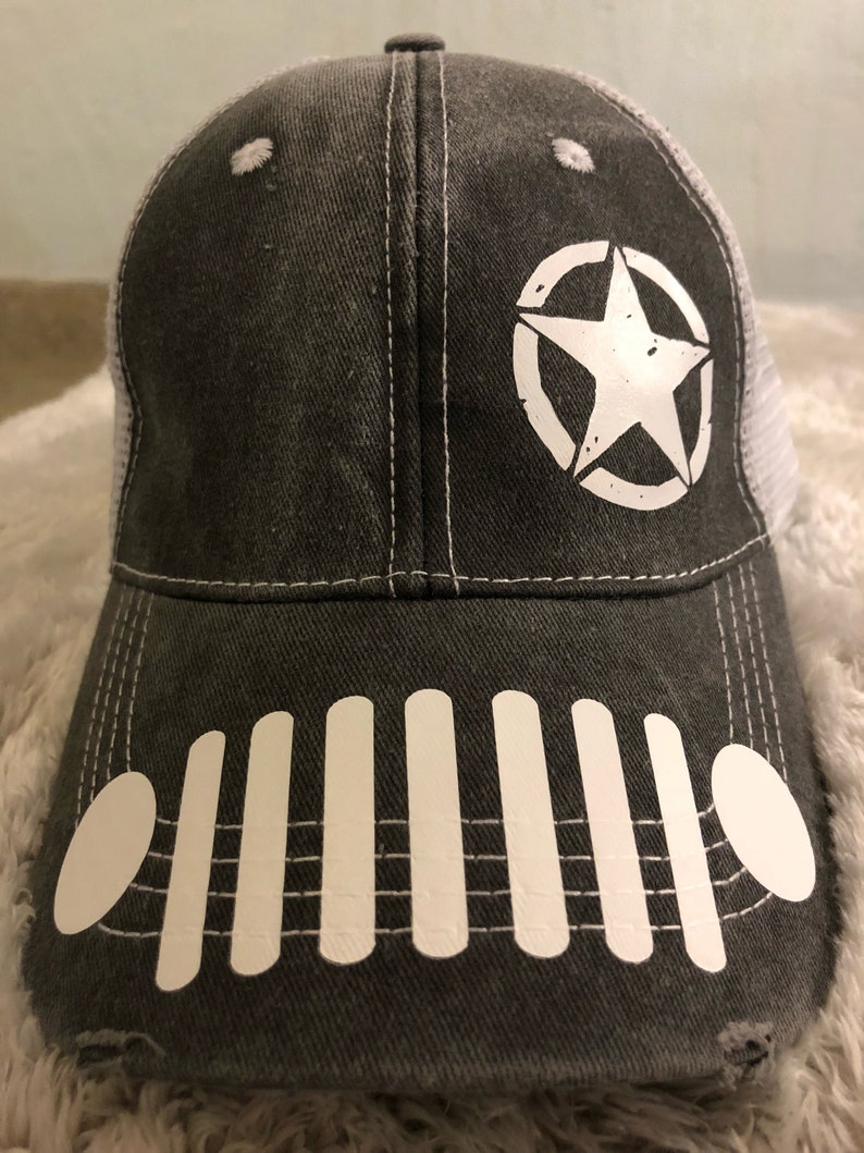 dbf5ec52d8fad Black Oscar Mike Jeep Wrangler Trucker Hat