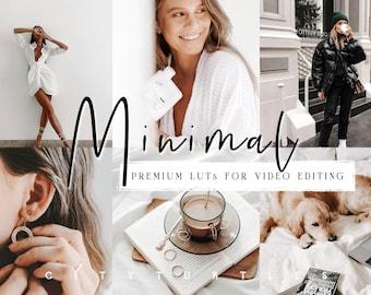 Clean Minimal LUTs for Video Editing, Modern LUTs for Vloggers, Filmmakers, Video Creators - Adobe Premiere Pro, Final Cut Pro, DaVinci