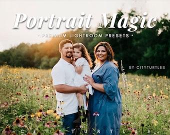 PORTRAIT MAGIC Natural Lightroom Presets for Desktop & Mobile, Outdoor Family Photography, Couples Wedding Presets