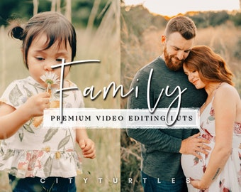 Outdoor Family LUTs for Video Editing, Professional Modern Film LUTs - Adobe Premiere Pro, Final Cut Pro, DaVinci