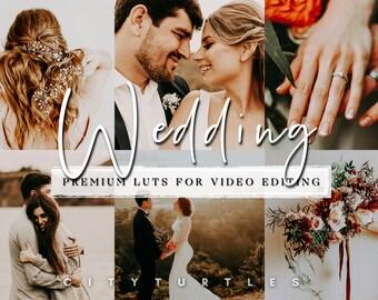 Moody Wedding LUTs for Video Editing, Professional Video Color Grading, Adobe Premiere Pro, Final Cut Pro, DaVinci Resolve