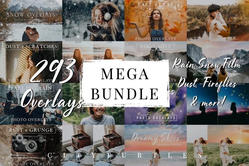 290 MEGA OVERLAY BUNDLE  Photoshop Overlays for Creatives  image 0