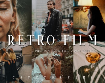 Cinematic Film LUTs for Video Editing, Professional Color Grading LUTs for Filmmakers, Adobe Premiere Pro, Final Cut Pro, DaVinci Resolve