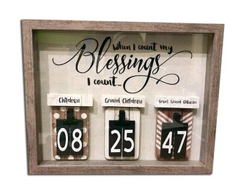 When I count My Blessings I count. Perfect Mother's day Gift!