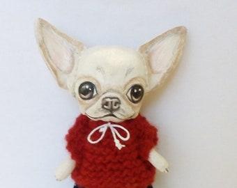 Art doll dog chihuahua Baby