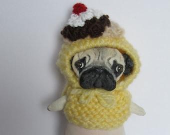 Art doll dog Pug   Toby