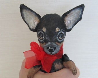 Art doll dog toy terrier  Max