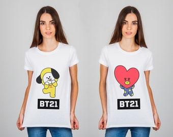 BTS T shirt Designs - BT 21 Characters (KPOP)