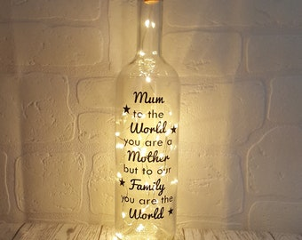 Personalised Mum Gift For Birthday Light Up Bottle Special Gifts Her Mums Unique