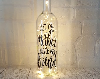 Mothers Day Gift Light Up Bottle Gifts For Her Mums Birthday First My Mother Forever Friend Best Mum Special