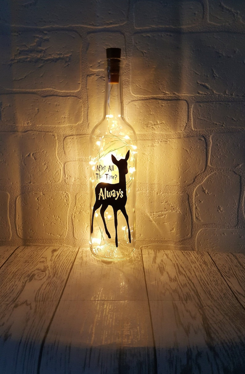 93eca6890a05 Personalised Harry Potter gift light up bottle Gifts for her