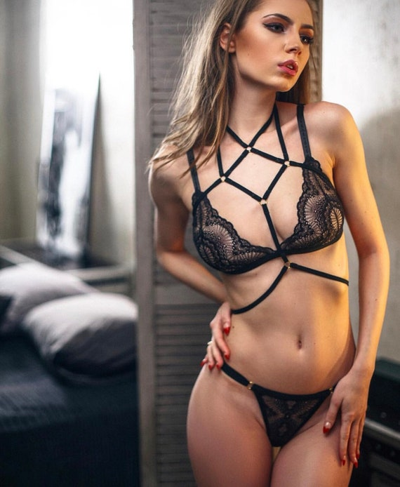 Erotic lingerie sexy sheer