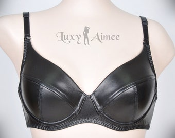 7e42d7802c6 Annie (PLUS size)   basic underwired bra   Handmade Luxury Luxy Aimee  Leather Leder lingerie Sexy BH Bra Cuir Femme Fetish club wear