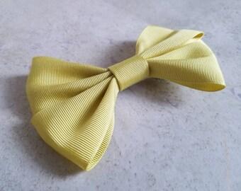 Mustard yellow bow