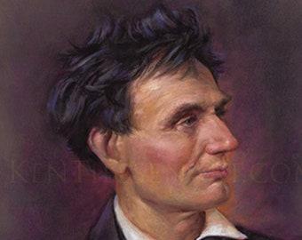 "Abraham Lincoln 1857- 18x24"""