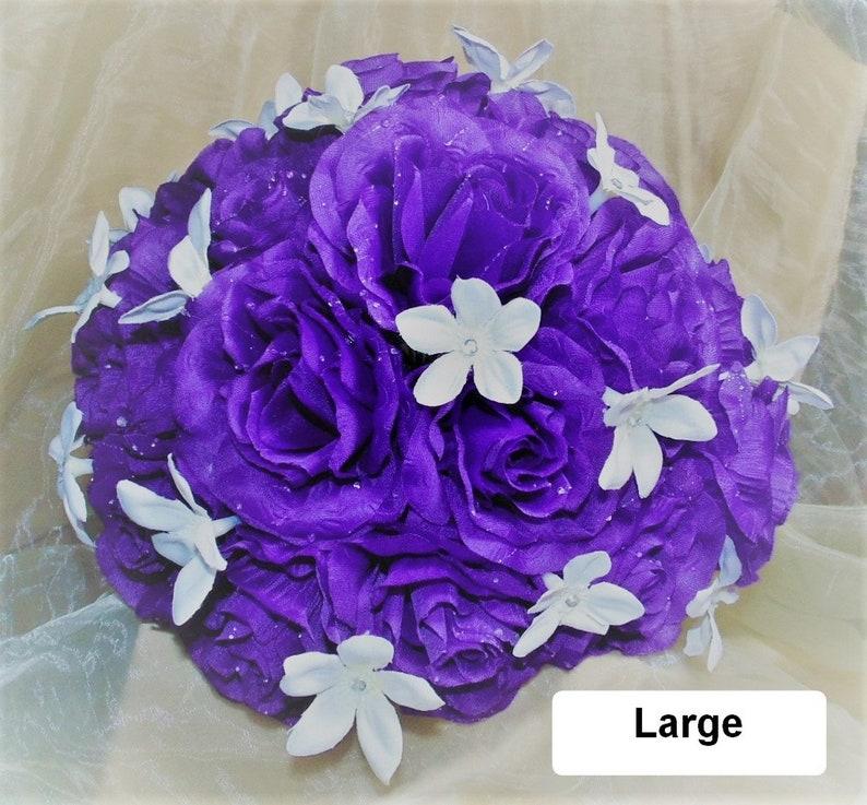 Bride Custom Made Bridesmaid Stephanotis Fuchsia Pink Delicate Wedding Bouquet Rose Rhinestone
