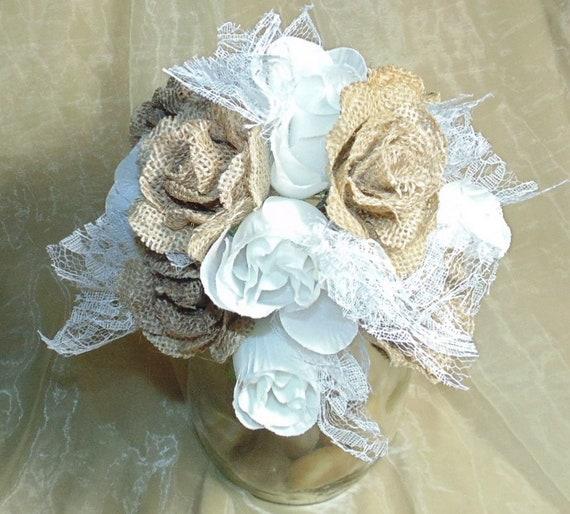 Radiant Wedding Bouquet Rosebud Custom Made Bridesmaid Bride White