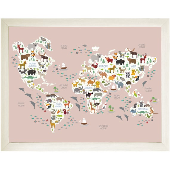 Kiola Designs Old Style World Map Business Card Holder