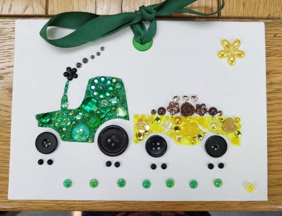 Tractor Craft Kit Kids Craft Projects Craft For Kids Craft Etsy