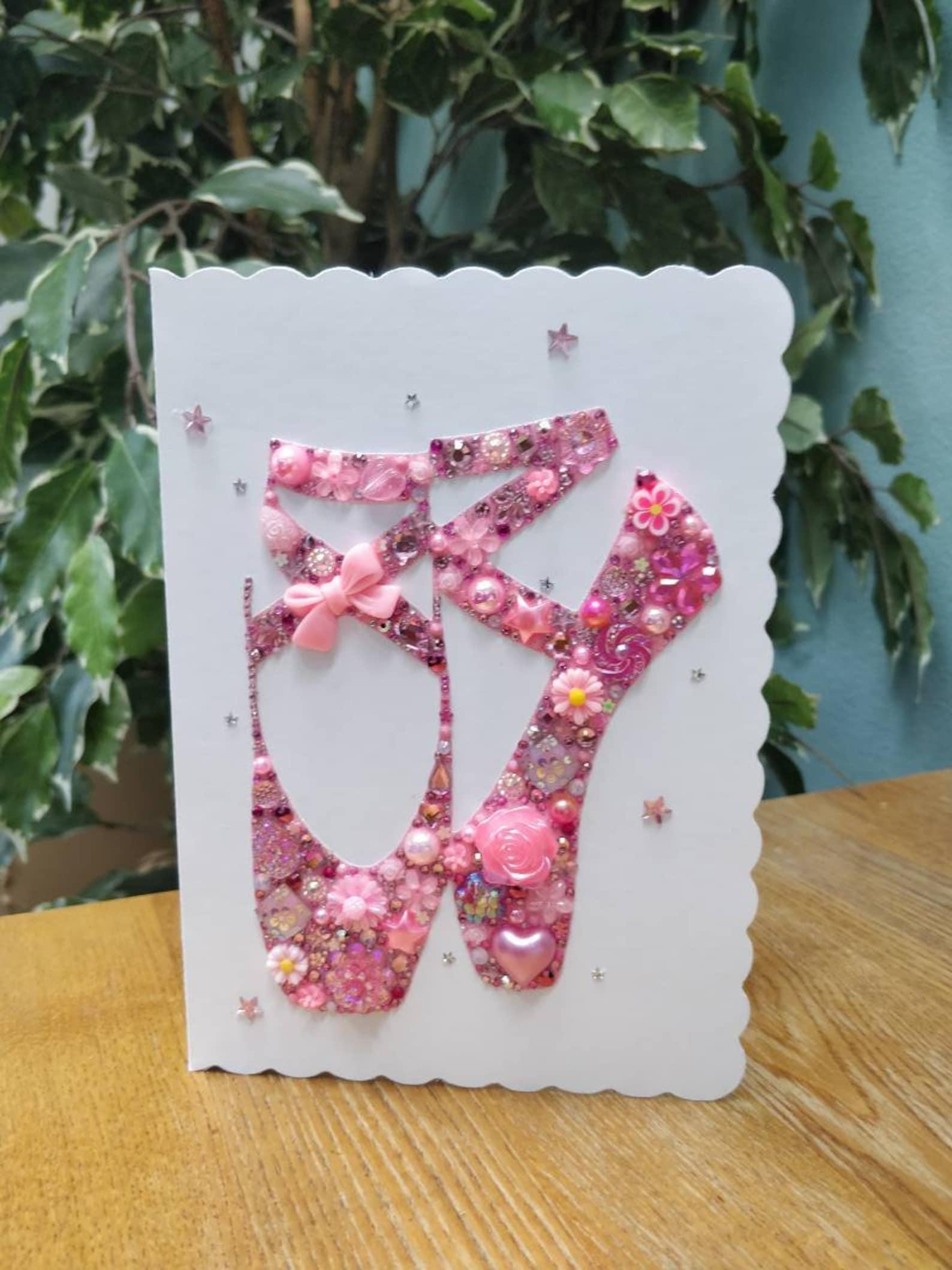 ballet shoes, ballerina present, greeting card, girls card, ballet, ballerina