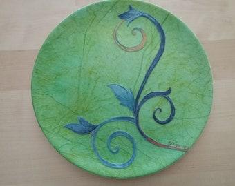 Blue Branch Ceramic Plate