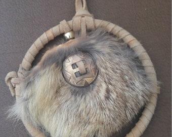Dream Catcher Cottontail Rabbit Fur