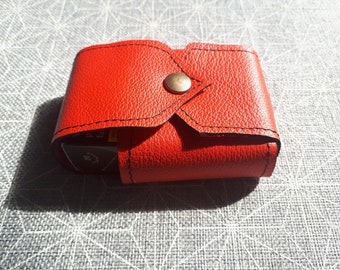 Pack of handcrafted leather cigarette case