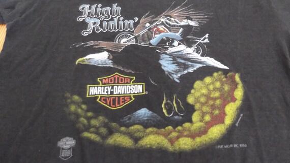Vintage 80s,HARLEY DAVIDSON,Harley Davidson tshir… - image 4