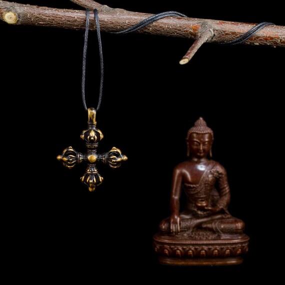 Tibetan Traditional Pendant Double Dorje Double Etsy