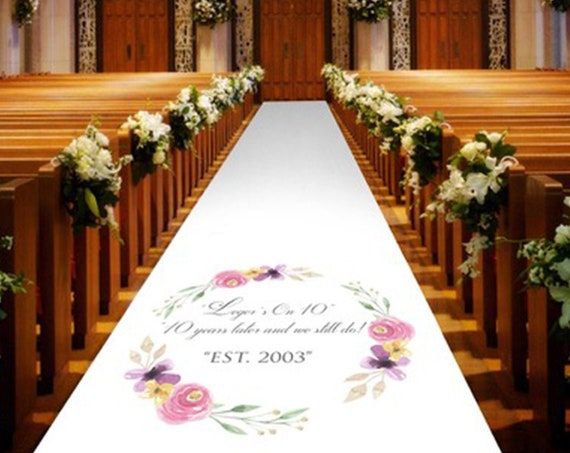 Personalised Wedding Aisle Runners - Any wording of your choice