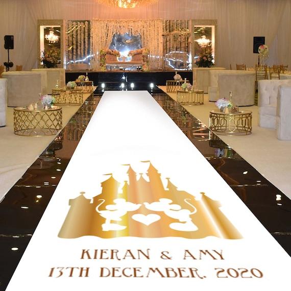 20ft 60ft Personalised WEDDING AISLE RUNNER Church//Venue Carpet Decoration