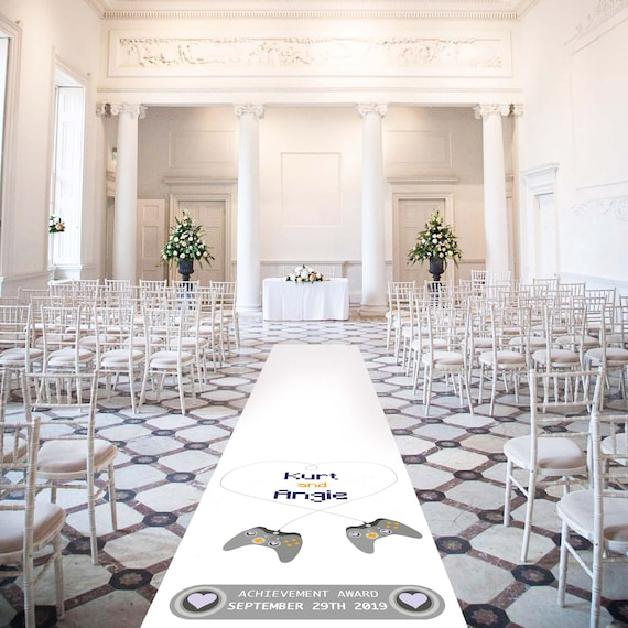 Personalised Wedding Aisle Runners - Playstation Theme
