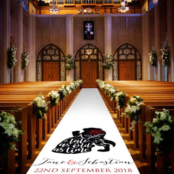 A Tale as Old As Time Wedding Aisle Runner - Personalised Wedding Aisle Runners