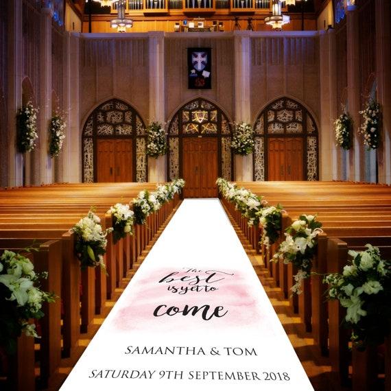 Personalised Wedding Aisle Runner - The best is yet to come - Personalised Wedding Aisle Runners