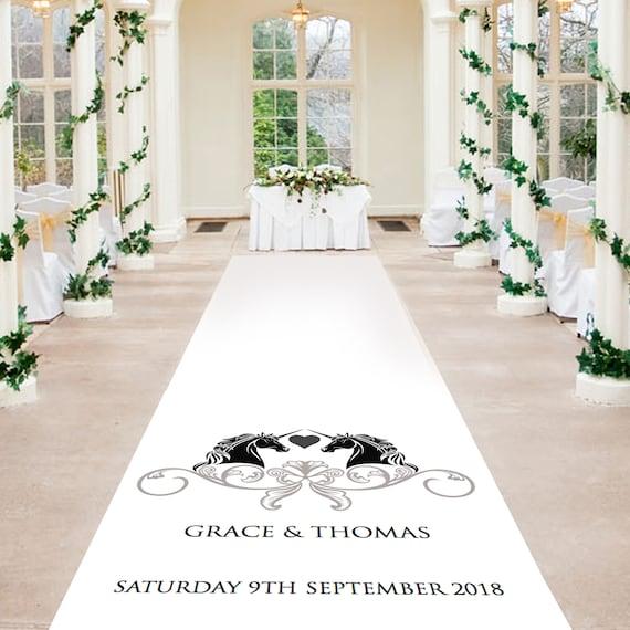 Unicorns 2018 Wedding Aisle Runner - Personalised Wedding Aisle Runners
