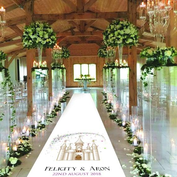 Fabric Aisle Runner - Fairytale Castle -  Personalised Wedding Aisle Runners