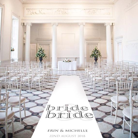 Bride and Bride Wedding Aisle Runner -Personalised Wedding Aisle Runners