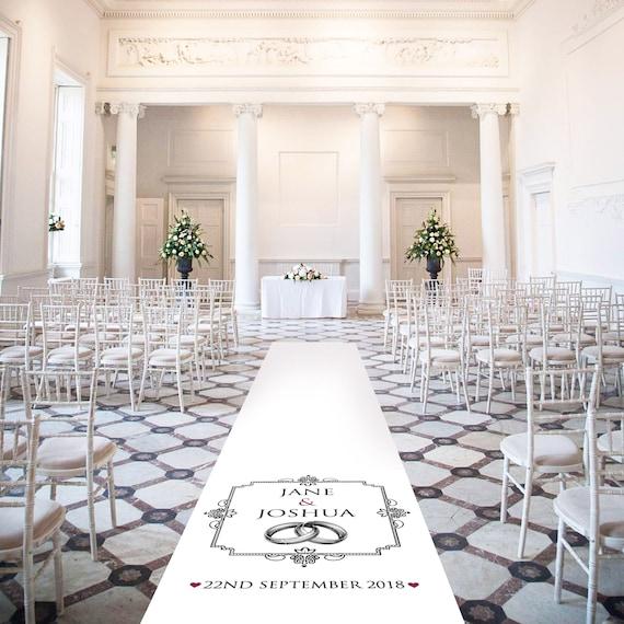 Romantic Wedding Aisle Runner - Wedding Bands - Personalised Wedding Aisle Runners