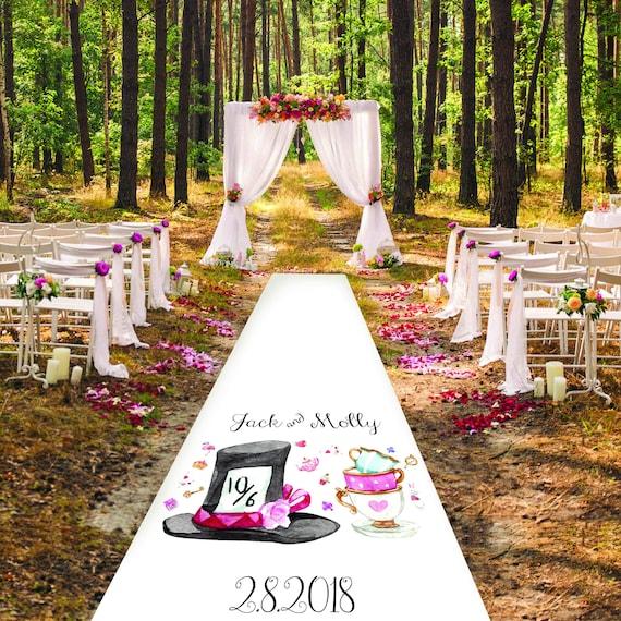 Alice in Wonderland Wedding Aisle Runner- Personalised Wedding Aisle Runners