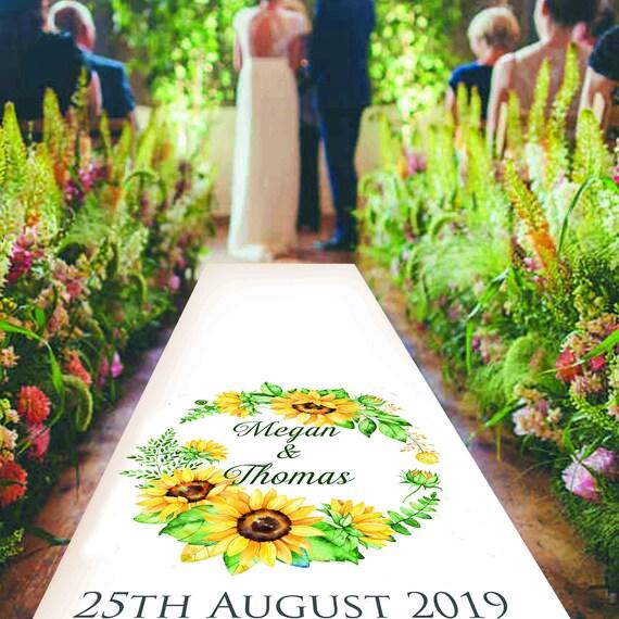 Sunflower Wedding Aisle Decoration