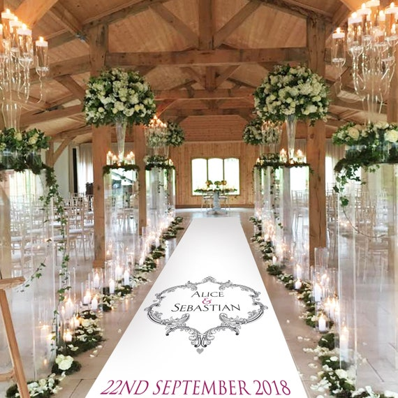Elegant Aisle Runner - Cresta Design -  Personalised Wedding Aisle Runners